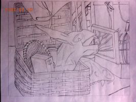 Junk in the Trink Pencil Version by lovelykilljoy94