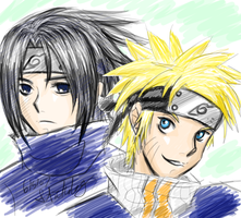 SasuNaru by Stickdog