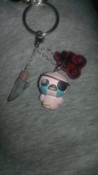 Binding of Isaac Keychains by delicioustrifle