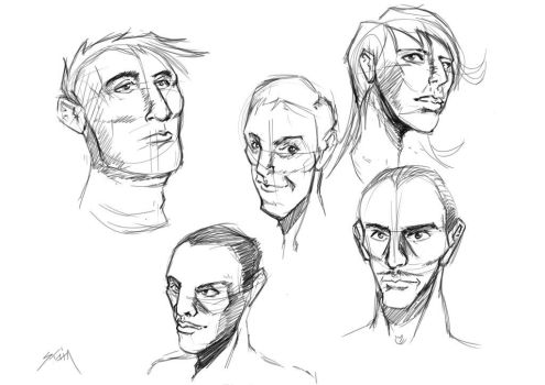 Face Doodles by shaino123