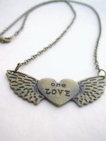One Love Heart Necklace by AbsoluteJewelry