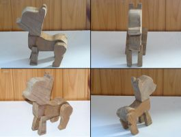 My Little Wooden Pony Sculpture Test WIP by backstabbingspoon