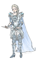 Elsa in ice armour by 0Catarina0
