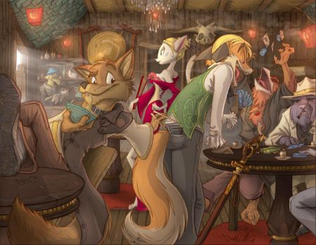 Coyote Cantina Commission by Dreamkeepers