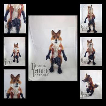 Needle Felt Fox Doll, compilation image by shadechristiwolven