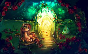 In the garden of roses by Alumx