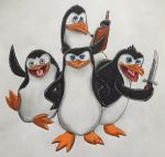 Penguins of Madagascar by BozzerKazooers