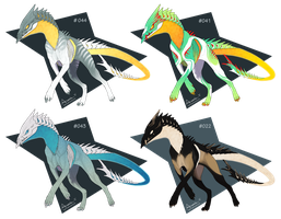 Core Hound adoptables [3/4 - OPEN] by xxFuria