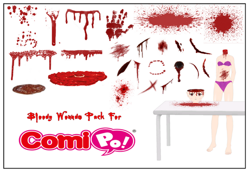 Bloody Wounds Image Pack by Lady-Aurora-Moon