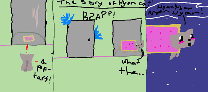 The story of Nyan Cat. by Invaderzim19