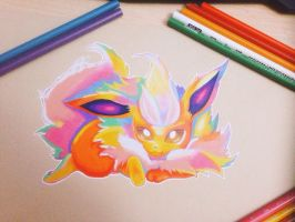Flareon Colorful by NausicaaGhibli