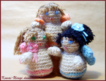 Three little fairies Amigurumi by kowai-usagi
