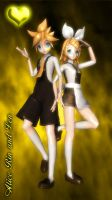 DT Alice Rin and Len by virsuz