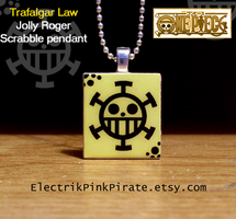 Heart Pirates scrabble pendant by ElectrikPinkPirate