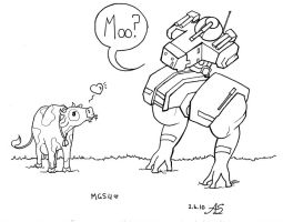 Metal Gear Solid 4: Moo? by ambychan