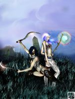 Asura and Deva - Yin and Yang by LadyCrevy