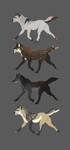 WOLF Adoptables CLOSED by Rinermai