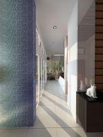 Green Cove BSD interior_Corridor to living room by vaD-Endz