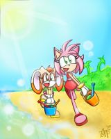 At the beach by SonicFF