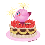 Kirby and the Birthday Cake by ShadedPenumbra