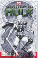 Valkyrie cover commish by MichaelDooney