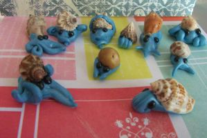 Prehistoric polymerclay pets by chaobreeder16