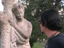 Contemplation of a Cemetery Statue by hopelesspierrot