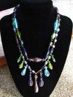 Two Strand Dangle Necklace by VioletRosePetals