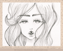 Miette Closeup - Uncolored by beyourpet
