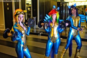 Katsucon 2015 - Wonderbolts(PS) 08 by VideoGameStupid