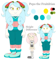 Pepo the Fruit Seedrian (Fruitdrian) - Reference by CitrusGalaxy