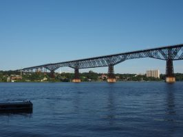 Poughkeepsie Railroad Bridge from Mariners Harbour by TheMightyQuinn