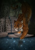 Thirsty Tiger by GeminiDoodle