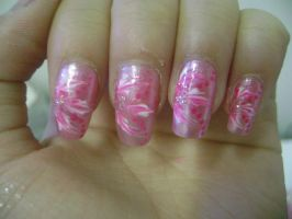 : my nails: by BunnieKo