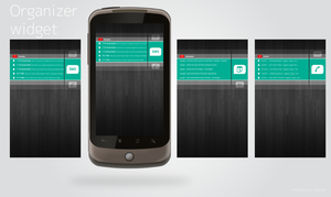 Android organizer widget by tihoroot