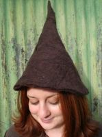 Felted Gnome Hat - Brown by SwirlzDesigns