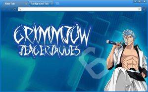 Bleach Google Chrome Theme: Grimmjow Jeagerjaques by yohohotralala