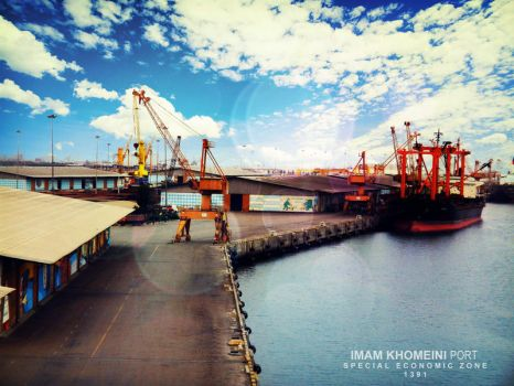 Imam Khomeini PORT by mermojtaba