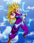 Teen Gohan Super Saiyan 3 Colored by JamalC157