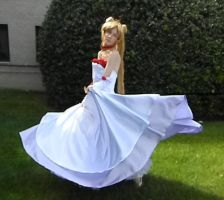 Tsukino Usagi Rose Gown Spinning by ldydestiny