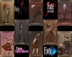 Type-moon Fate Servant's Card by Yoahimune