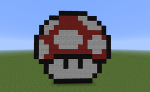 Minecraft PixelArt Mushroom by Peppermint334