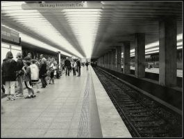 Riding on the Metro, Munchen by Andrei-Joldos
