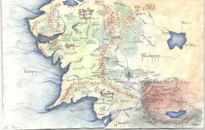 Map of Middle Earth by littlelea