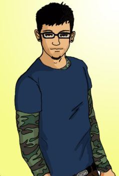 Hipster guy by CaptainLaurie