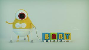 baby monster HD by mikeandlex