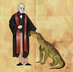 Richard Owen and his Gorgonops by Pelycosaur24