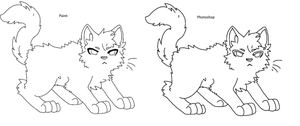 Cat lineart paint friendly and photoshop by Buizel149