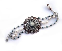 Filigree and Pearls Bracelet by Aranwen