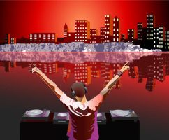 Dj s playing to city by cnkertn